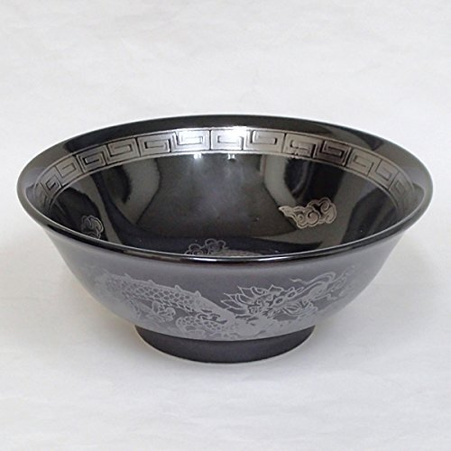 Japanese Black glaze silver dragon 8.35