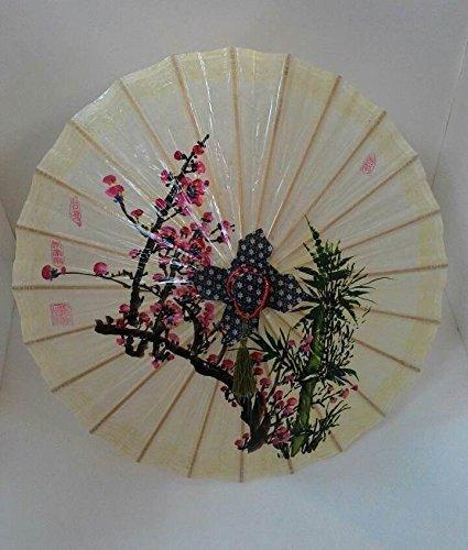 Mei-Nong Man-Made Oil-Paper Umbrella (Plum Flower & Bamboo), Small-Size(20
