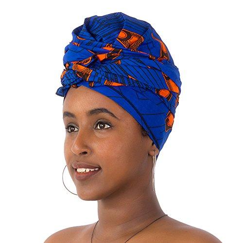 FANS FACE Traditional African Headwrap Headtie Nigerian Scarf Headwear ()