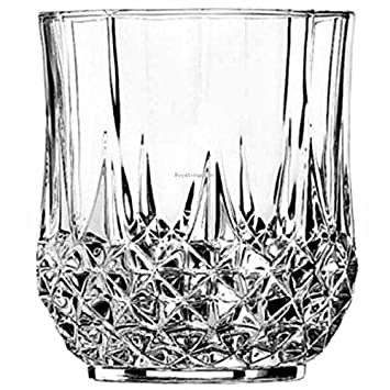Cristal dArques Longchamp Whisky Double Old Fashioned, 320ml, Set of 6 Whiskey Glasses at amazon