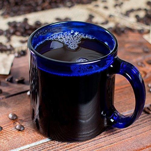 Libbey 5213B Warm Beverage / Coffee Mug Cobalt Blue 13 oz, SET OF 6 w/bonus FDL picks