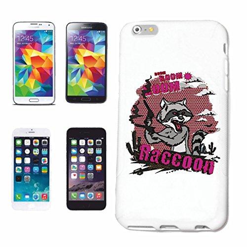 "cas de téléphone iPhone 6S ""BOOM RACCOON BOOM AVEC GUN BEAR AMERICAN NORTH AMERICAN RACCOON SCHUPP RACCOON ROBBERY ANIMALE"" Hard Case Cover Téléphone Covers Smart Cover pour Apple iPhone en blanc"