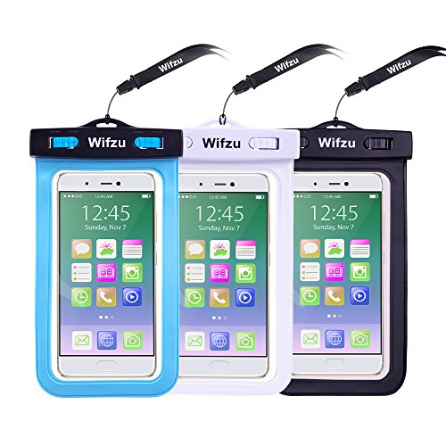 Wifzu Waterproof Phone Case IPX8 Certificated Dust proof for 6 Inch Universal Smartphone 3 Packs (Rider Tissue Box Cover)