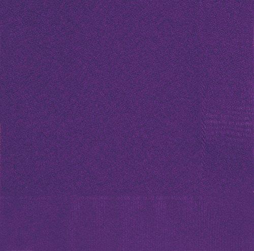 20 Count Cocktail Napkins, Deep Purple 10