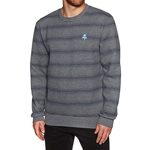 (Enjoi Men's Method Crew Sweater,X-Large,Heather/Blue)