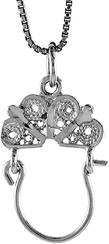 Charm Necklace Charm Bracelet Silver Charm Charm Necklace Small Sterling Silver Charm Holder Silver Charm Holder Pendant Holder