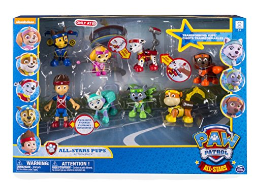 Paw Patrol All Stars All-Stars Pups Action Pack Figure 8-Pack