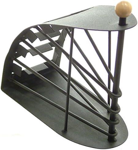Great Ideas - Porta telecomandi (fino a 4), design metallico arcuato, colore nero...