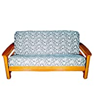 Lifestyle Covers Floral Scroll Futon Cover, 54 by 75-Inch, Slate Blue