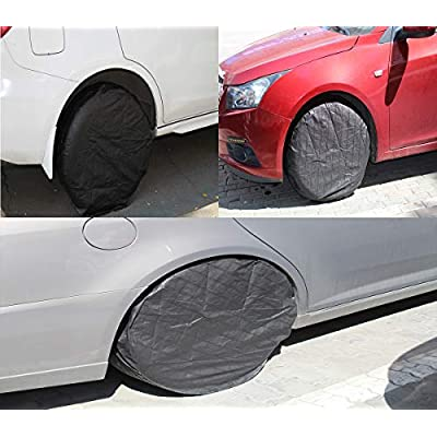 AWEIR Tire Cover Set of 4, Waterproof Aluminum Film tire Sun Protection Cover, Suitable for 26