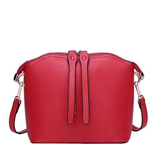 Beiläufige Lederschalen Klassische Weise Art Schultertasche Red Und OneSize Damen npCFWxqdC