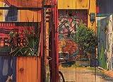 Gizaun Art Garden Graffiti 33-Inch by 24-Inch Inside/Outside Wall Art, Full Color on Cedar