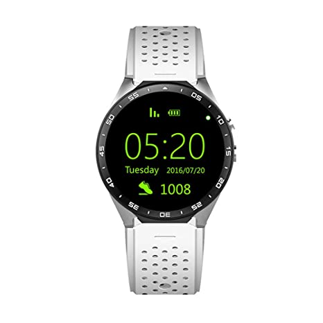 KW88 Reloj inteligente Android 5.1 OS 3G 1.39 pulgadas 400 * 400 ...