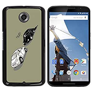 Design for Girls Plastic Cover Case FOR NEXUS 6 / X / Moto X Pro Funny Darth Beetle Car OBBA