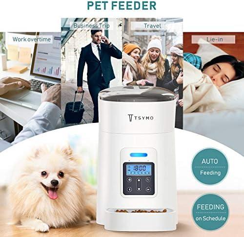 Alimentador automático para gatos y perros con temporizador programable grabación de voz 6