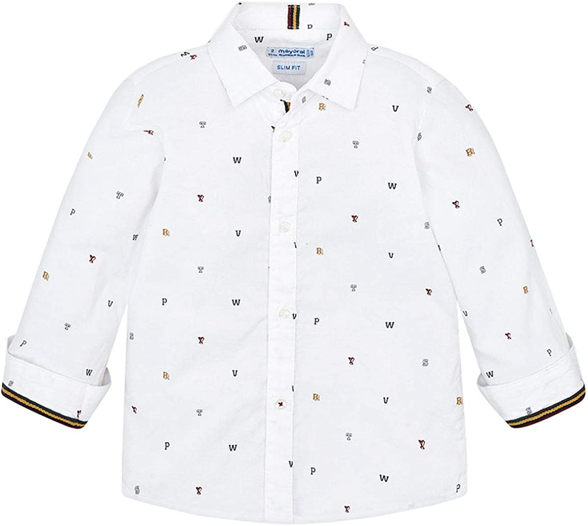 Mayoral Camisa estampada para niño. blanco 2 años: Amazon ...
