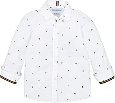 Mayoral Camisa estampada para niño. blanco 2 años: Amazon.es ...