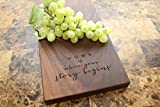 Personalized Walnut Cheese Board - Serving Platter, Realtor Closing Gift, Housewarming Present, Gift for Couple, Unique Gift Idea, Quote, Saying, New Homeowner. #944