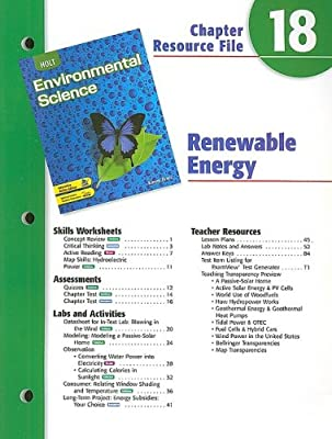 Holt Environmental Science Chapter 18 Resource File ...
