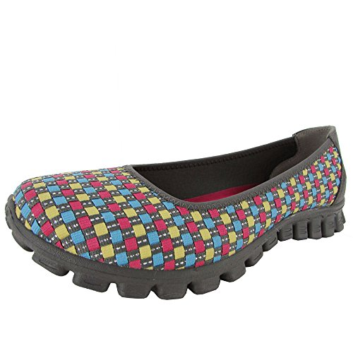 Skechers Womens EZ Flex 2 Illuminate 22616 Ballet Shoe, G...