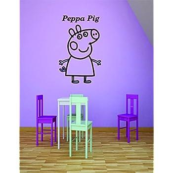 Amazon Com Peppa Pig Wall Decals Decal Vinyl Art Decor Sticker