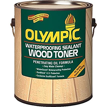 Olympic 55263a 01 Waterproofing Sealant Wood Toner 1 Gallon