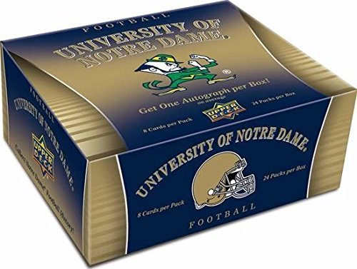 NCAA 2013 Upper Deck University of Notre Dame Football Hobby Trading Cards