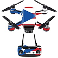 Skin for DJI Spark Mini Drone Combo - Puerto Rican Flag| MightySkins Protective, Durable, and Unique Vinyl Decal wrap cover | Easy To Apply, Remove, and Change Styles | Made in the USA