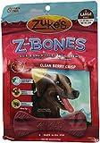 Zuke's Z-Bones Edible Grain-Free Dental Chews, Clean Berry Crisp, Large 15-Ounces, 6 Count