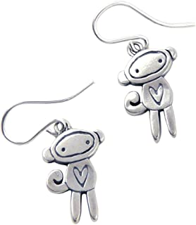 product image for Love Monkey American Made Sterling Silver Charm Earrings