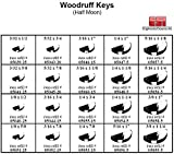 Woodruff Key Hardware Kit - Metal Tray Box, Half Moon