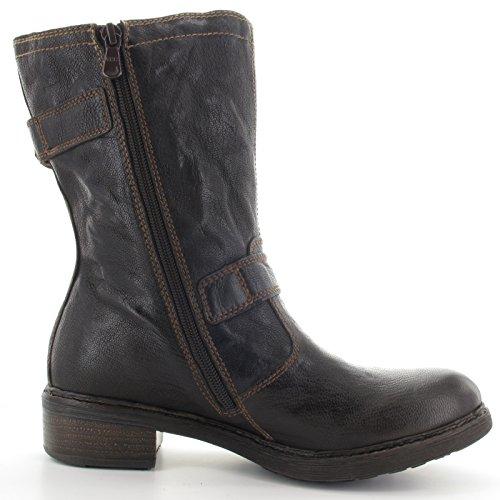 Marron Nero Foncé Femme Basses Sneakers qwZ1Hpa