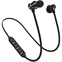 uniqueaur Magnetic Bluetooth Headset, Wireless Bluetooth Magnetic In-Ear Earphone Headset Stereo Headphone with Mic