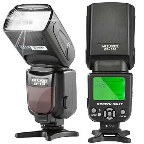 K&F Concept KF-560 Universal Speedlite Flash with LCD Display Compatible with Canon Nikon DSLR Cameras