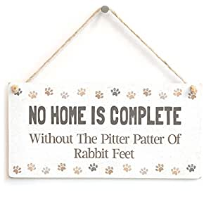 Owen Cocker no Home is complete without The Pitter Patter de conejo pies–Cute Fun de conejo Home Accessory regalo signo