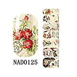 1 Sheet Dazzling Popular Fashion New Nail Art Sticker Manicure Decor Sunproof Tools Floral DIY Color Type NAD0125