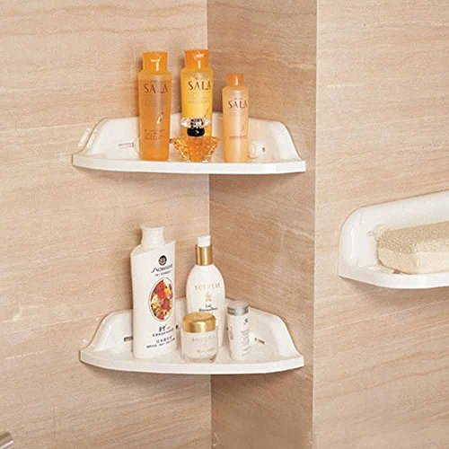 TheBathMart Bathroom Wall Corner Suction - Suction Corner Shelf Shopping Results