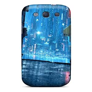 Case Cover Rainy Night Street/ Fashionable Case For Galaxy S3