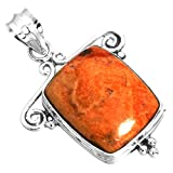 Natural Sponge Coral Gemstone Unique Jewelry Solid 925 Sterling Silver Pendant