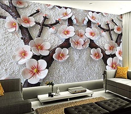 Wallpaper Mural 3d Wallpaper Design Chinese S Plum Photo Kitchen