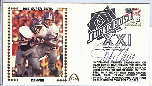 John Elway Autographed Signed Autograph First Day Cover Cachet Superbowl 1987 JSA Authentic U82347