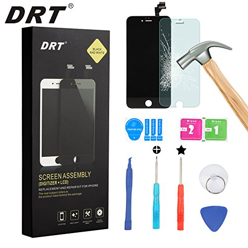DRT iPhone 6 Plus Screen Replacement (5.5 inch) LCD Display Touch Screen Digitizer Frame Assembly Full Set with Free Tools and Tempered Glass Screen P…
