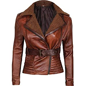 Blingsoul Leather Jackets for Women – Asymmetrical Ladies Motorcycle Leather Jacket