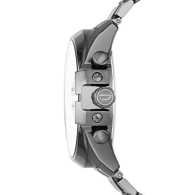 Amazon.com: Diesel Mega Chief Reloj cronógrafo de cuarzo ...