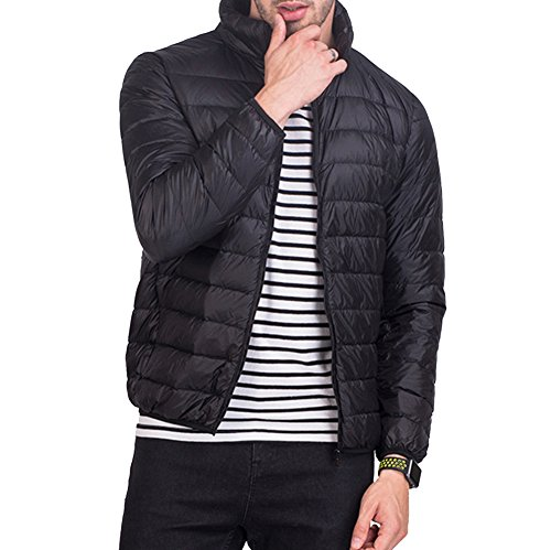 Padded Jacket Winter Coat Lightweight Jacket Black Down Outwear Warm Men's Packable YwfFangwp