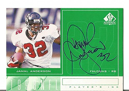 Jamal Anderson Atl Falcons 1998 Sp Authentic Autographed Signed Card Players Ink - NFL Autographed Football (Authentic Player Autographed Card)