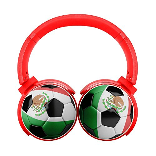 Customized Mexico Flag Soccer Ball Hi-Fi Wireless Bluetooth Headphones Heavy Bass Stereo Headsets for Tv/Pc/Cell Phone