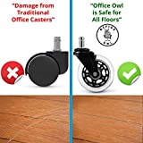 Office Owl Office Chair Wheels Replacement, Set