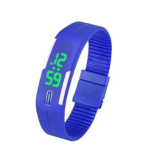 Ularmo Hombres Mujeres Rubber LED Watch Sports FECHA pulsera reloj Digital azul: Amazon.es: Relojes