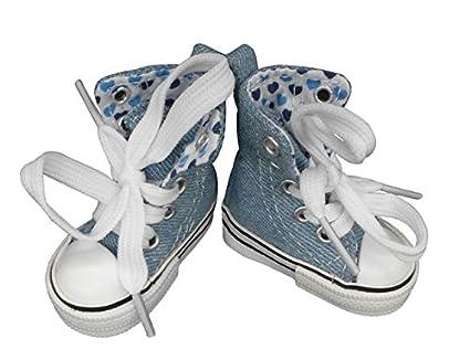 30f223033e9c0 Jean Canvas Shoes For Paola Reina , Tilda,1/3 Bjd Doll Footwear Sports gym  for Dolls